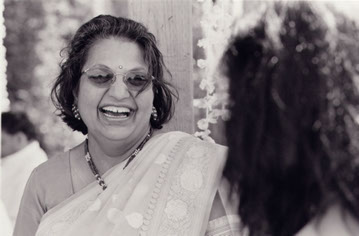 Dr. Asha Goel was photographed at her daughter Seema's wedding weeks before he was killed in Mumbai, India, in 2003.